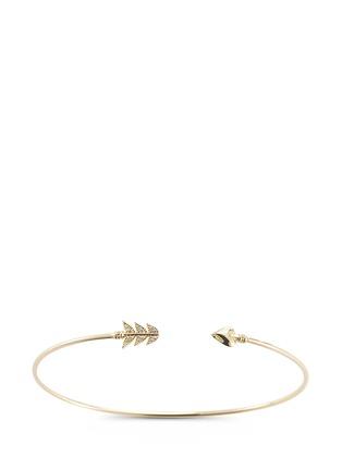 Mizuki - 'Sea of Beauty' diamond 14k gold wire arrow cuff