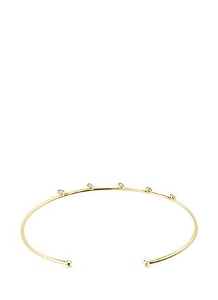 Main View - Click To Enlarge - Mizuki - 'Sea of Beauty' diamond 14k gold wire cuff
