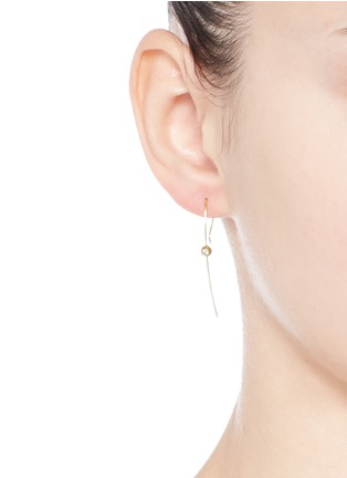 Mizuki - 'Sea of Beauty' diamond 14k gold wire earrings