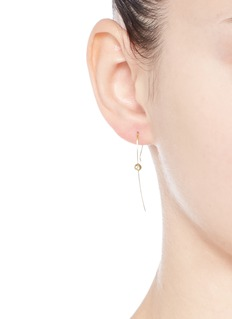 Mizuki 'Sea of Beauty' diamond 14k gold wire earrings