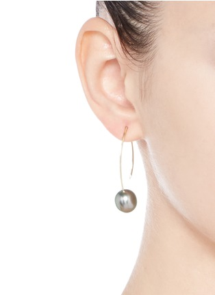Figure View - Click To Enlarge - Mizuki - 'Sea of Beauty' Tahitian pearl 14k gold drop earrings