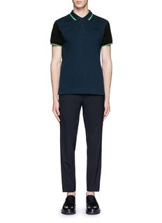 MCQ ALEXANDER MCQUEENContrast sleeve cotton piqué polo shirt
