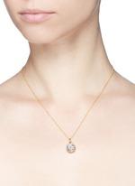 18k white gold sapphire zodiac charm - Cancer