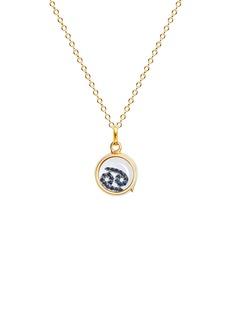 Loquet London18k white gold sapphire zodiac charm - Cancer