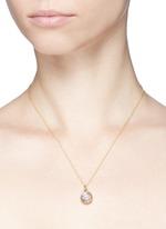 18k white gold sapphire zodiac charm - Pisces