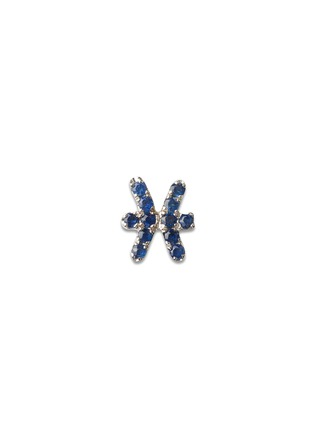 Main View - Click To Enlarge - Loquet London - 18k white gold sapphire zodiac charm - Pisces