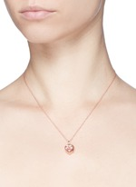18k rose gold ruby zodiac charm - Leo
