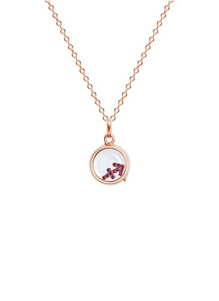 Figure View - Click To Enlarge - Loquet London - 18k rose gold ruby zodiac charm - Sagittarius