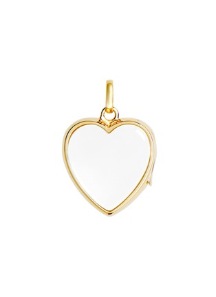 Main View - Click To Enlarge - Loquet London - 14k yellow gold rock crystal heart locket - Medium 18mm