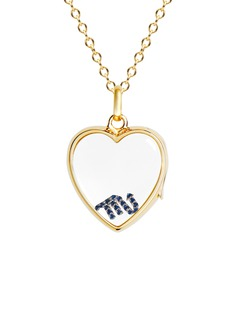 Loquet London 14k yellow gold rock crystal heart locket - Medium 18mm