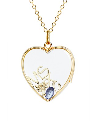 Figure View - Click To Enlarge - Loquet London - 14k yellow gold rock crystal heart locket - Large 22mm