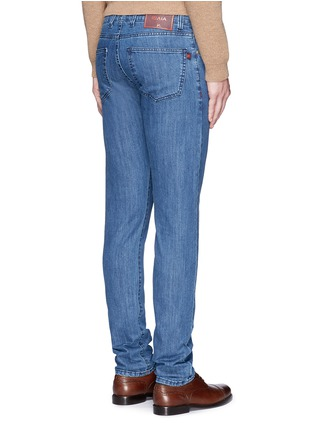 Back View - Click To Enlarge - ISAIA - Cotton denim jeans
