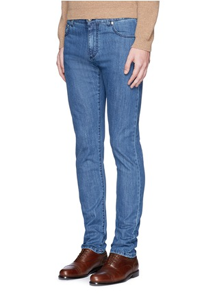 Front View - Click To Enlarge - ISAIA - Cotton denim jeans