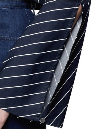 Detail View - Click To Enlarge - Nicholas - Stripe bell sleeve tie-front poplin top
