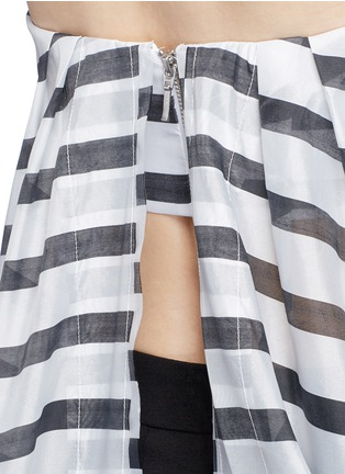 Detail View - Click To Enlarge - Nicholas - Stripe print cascading frill bustier top