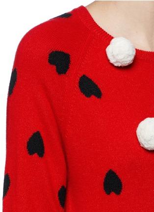 细节 - 点击放大 - CHINTI AND PARKER - 爱心毛绒球羊绒衫