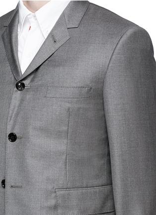 细节 - 点击放大 - THOM BROWNE - 羊毛高腰西服套装