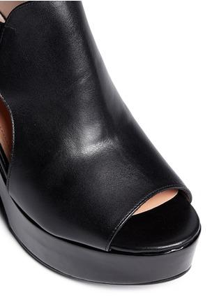 Detail View - Click To Enlarge - Robert Clergerie - Cutout platform wedge sandals