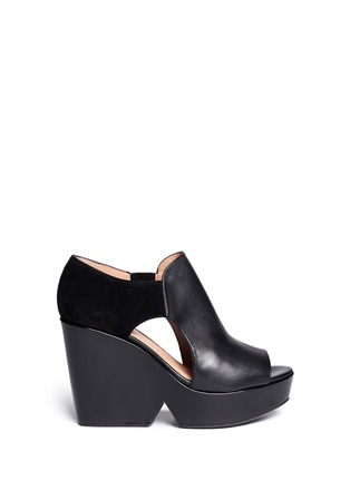 Main View - Click To Enlarge - Robert Clergerie - Cutout platform wedge sandals