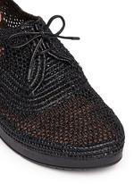 'Vicolei' woven raffia wedge lace-ups