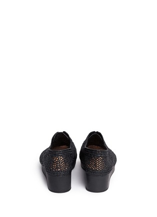 Back View - Click To Enlarge - Robert Clergerie - 'Vicolei' woven raffia wedge lace-ups