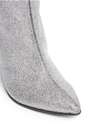 Detail View - Click To Enlarge - Robert Clergerie - 'Koffra' stretch metallic glitter fabric boots
