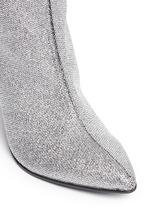 'Koffra' stretch metallic glitter fabric boots
