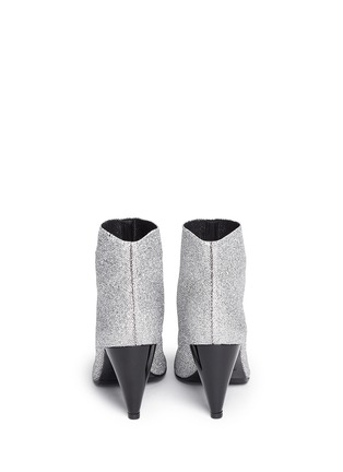 Back View - Click To Enlarge - Robert Clergerie - 'Koffra' stretch metallic glitter fabric boots
