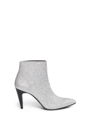 Main View - Click To Enlarge - Robert Clergerie - 'Koffra' stretch metallic glitter fabric boots