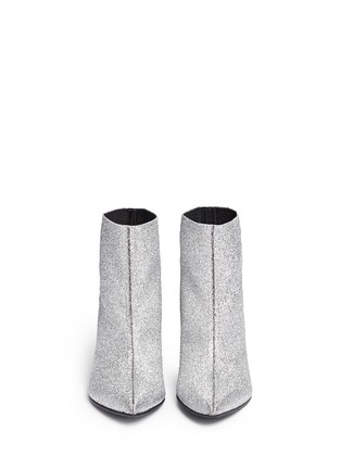 Figure View - Click To Enlarge - Robert Clergerie - 'Koffra' stretch metallic glitter fabric boots
