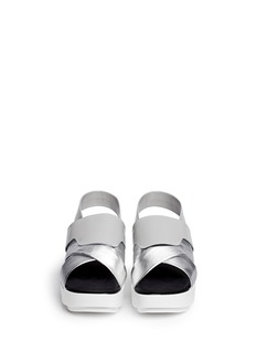 ROBERT CLERGERIE'Phator' mix leather platform sandals