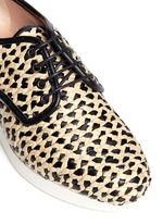 Woven raffia Oxford shoes