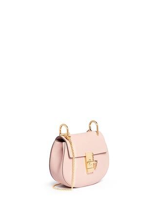 CHLO�� - \u0026#39;Drew\u0026#39; mini grainy leather shoulder bag | Pink Flap Bags ...