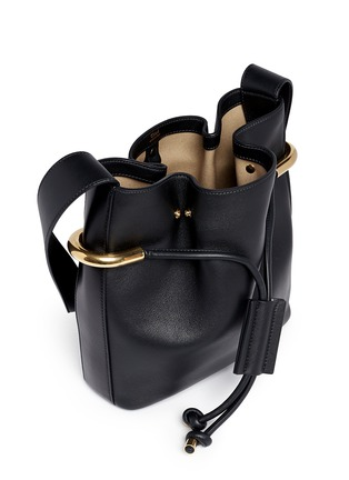Detail View - Click To Enlarge - Chloé - 'Emma' small leather drawstring bucket bag