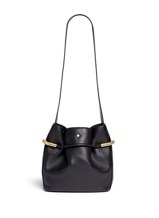 Back View - Click To Enlarge - Chloé - 'Emma' small leather drawstring bucket bag