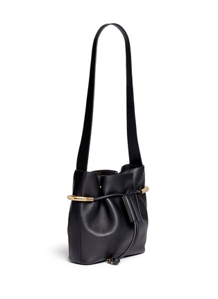 Front View - Click To Enlarge - Chloé - 'Emma' small leather drawstring bucket bag