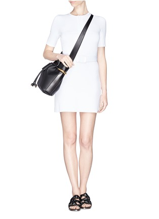 Figure View - Click To Enlarge - Chloé - 'Emma' small leather drawstring bucket bag