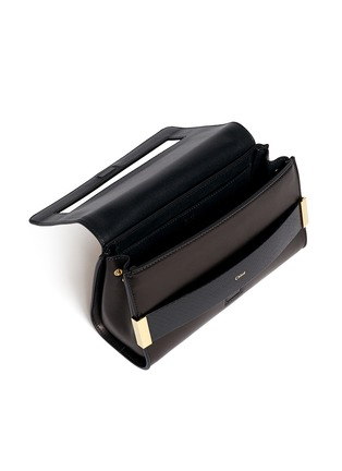 Detail View - Click To Enlarge - Chloé - 'Elle' small ayers trim leather clutch