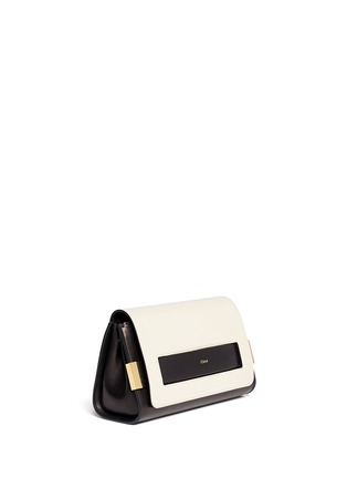 Front View - Click To Enlarge - Chloé - 'Elle' small ayers trim leather clutch