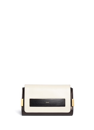 Main View - Click To Enlarge - Chloé - 'Elle' small ayers trim leather clutch