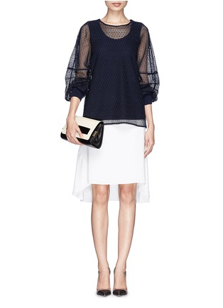 Figure View - Click To Enlarge - Chloé - 'Elle' small ayers trim leather clutch