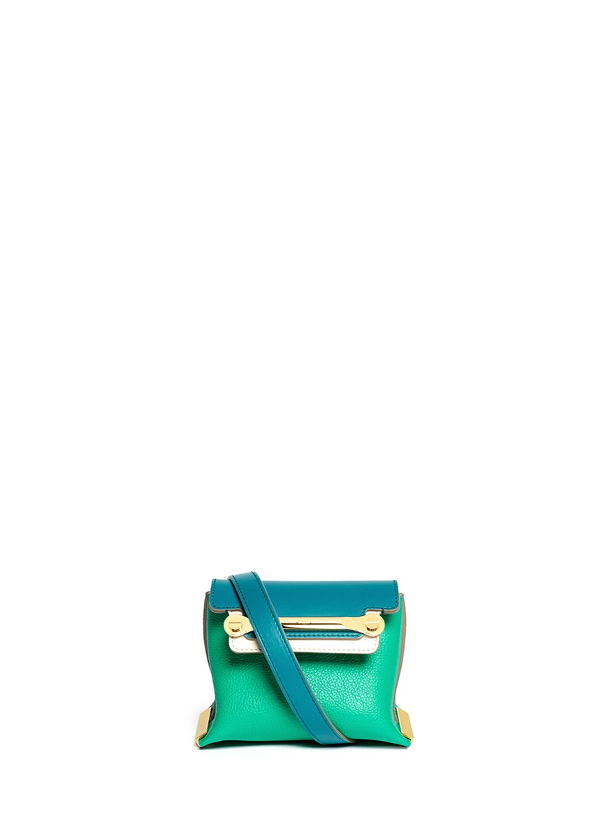 CHLO¨¦ - \u0026#39;Clare\u0026#39; mini leather crossbody bag - on SALE | Green ...