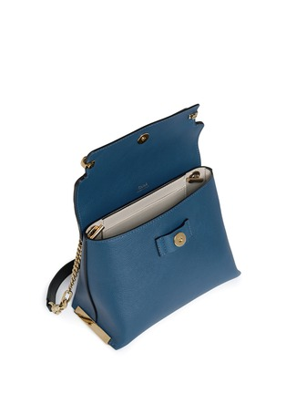 Detail View - Click To Enlarge - Chloé - 'Clare' small leather shoulder bag