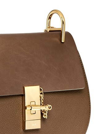 Detail View - Click To Enlarge - Chloé - 'Drew' small leather shoulder bag