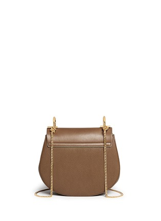 Back View - Click To Enlarge - Chloé - 'Drew' small leather shoulder bag