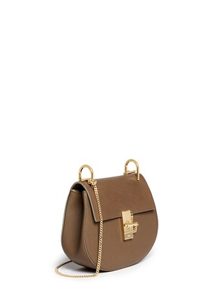 Front View - Click To Enlarge - Chloé - 'Drew' small leather shoulder bag