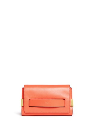 Main View - Click To Enlarge - Chloé - 'Elle' leather clutch