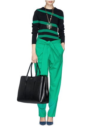 - Lanvin - 'Shopper' lace up tassel leather tote