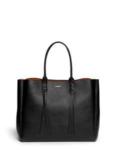 LANVIN'Shopper' lace up tassel leather tote
