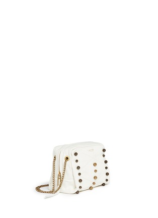 Front View - Click To Enlarge - Lanvin - 'Baby Sugar' metal pearl leather crossbody bag